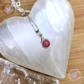 Rhodochrosite Sterling Silver Wire Wrapped Pendant